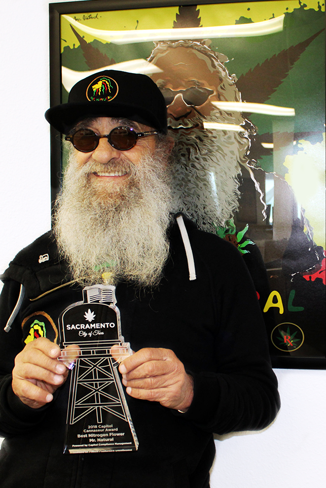 Capitol Compliance Management blog - Mr. Natural accepting his Capitol Cannaseur Award for Best Nitro Flower